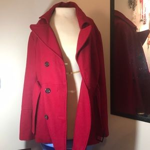 Nordstrom Red Wool Coat